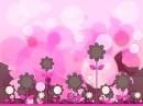 粉色卡通可爱背景