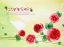 彩绘花卉背景图