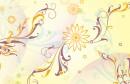韩国花纹背景