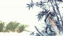 素雅水墨植物背景图