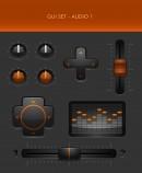 橙色控制按钮