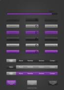 紫色搜索下载按钮