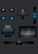 蓝色控制按钮