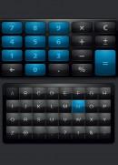 蓝色键盘按钮