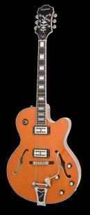 橙色的电吉他