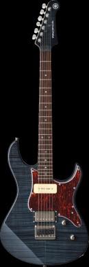 蓝灰条纹电吉他