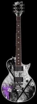 黑白颓废电吉他