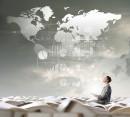 商务金融与世界地图