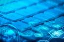 科技数字地球与键盘