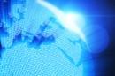 蓝色商务数码世界地图