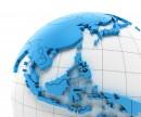 蓝色的商务地球