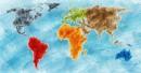 世界地图网络科技颜料