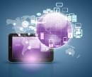 紫色地球手机信息通讯