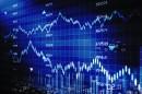 蓝色的商务金融背景