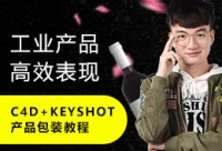 C4D+Keyshot产品包装表现《半透明酒瓶》专攻教程
