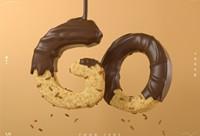 C4D 字体表现《巧克力字体》建模渲染教学