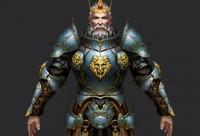 手绘游戏男性角色《狮王伯爵》低模模型制作