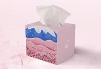 日化品抽纸盒包装设计《浪漫樱花富士亲肤纸抽》图形绘制实战教程