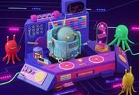 C4D電音節卡通形象電商場景創作【新手方向】【IP小場景】