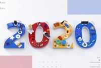C4D 喜迎2020-新年快樂-字體標識全流程展示