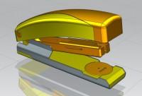 UG《订书机》产品外观造型+结构建模设计教学