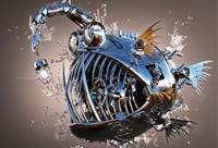 影视级硬表面机械《深海灯笼鱼》建模全流程教学【实战案例】