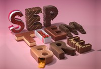 C4D -情人节香浓巧克力字体设计【字体设计】