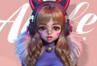 游戏美宣《阿拉蕾》美型角色半身像制作【案例详解】