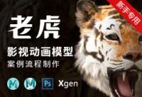 影视动画动物模型《老虎》全流程制作教程