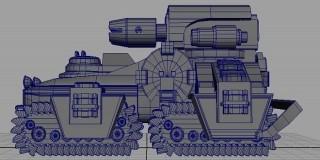 Maya2016硬表面装甲载具建模教程