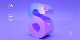 C4D+OC海報創意《字母造型》建模渲染教學