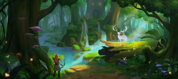 童话风游戏场景绘制教程