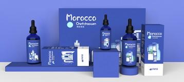 品牌包装设计《摩洛哥精油》套盒包装从平面结构到三维的表现