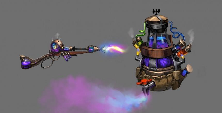 《激战2》武器原画