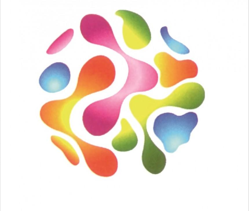 彩色海滩元素logo