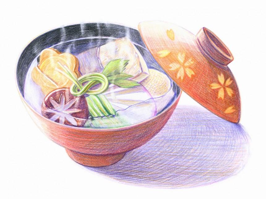 蔬菜汤彩铅画图片