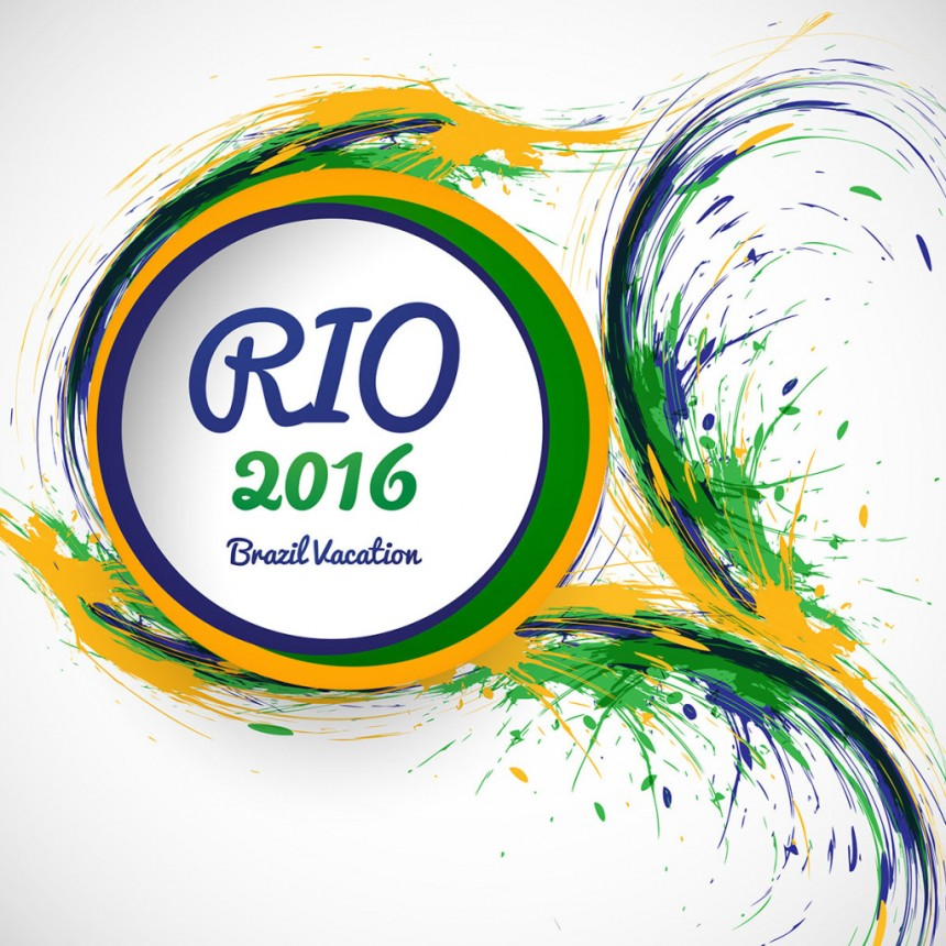 2016里约奥运油漆飞溅背景图