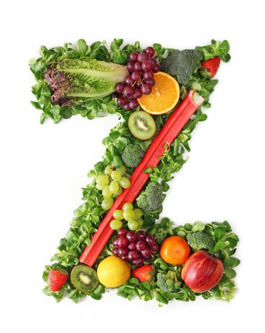 绿色水果英文字母Z