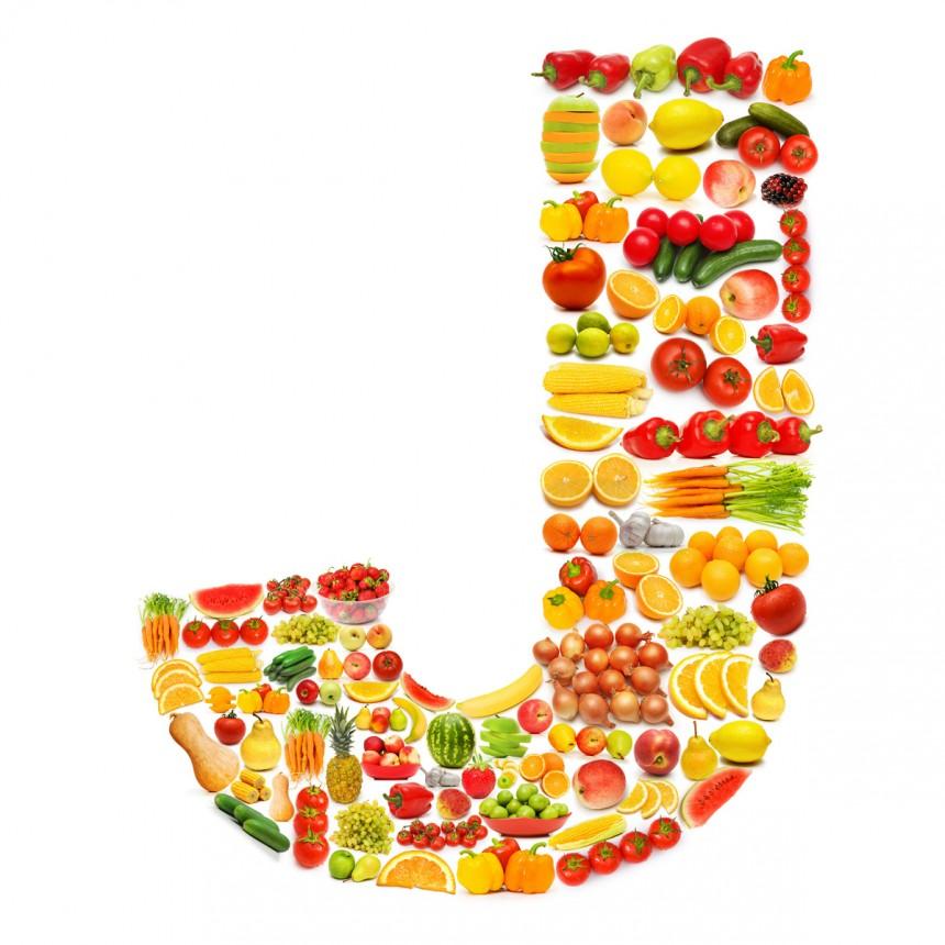 黄色水果英文字母J