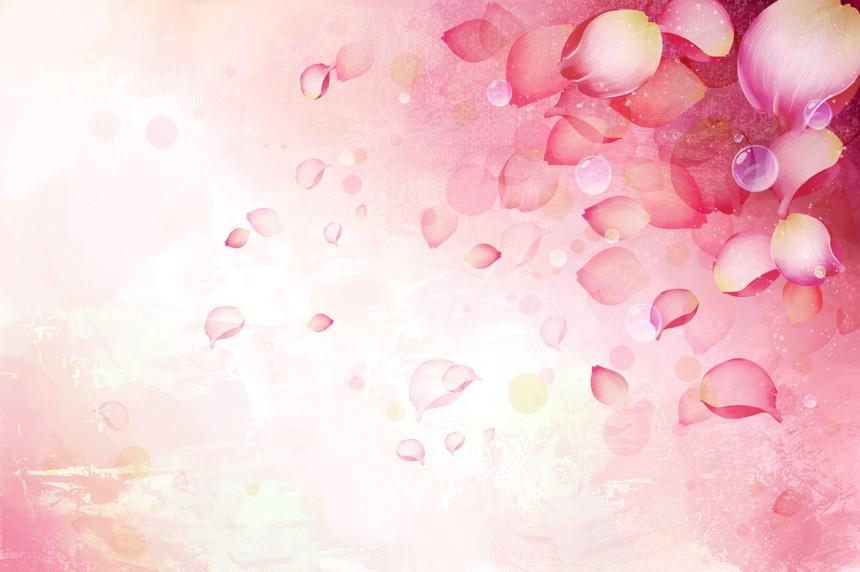 粉色浪漫花瓣