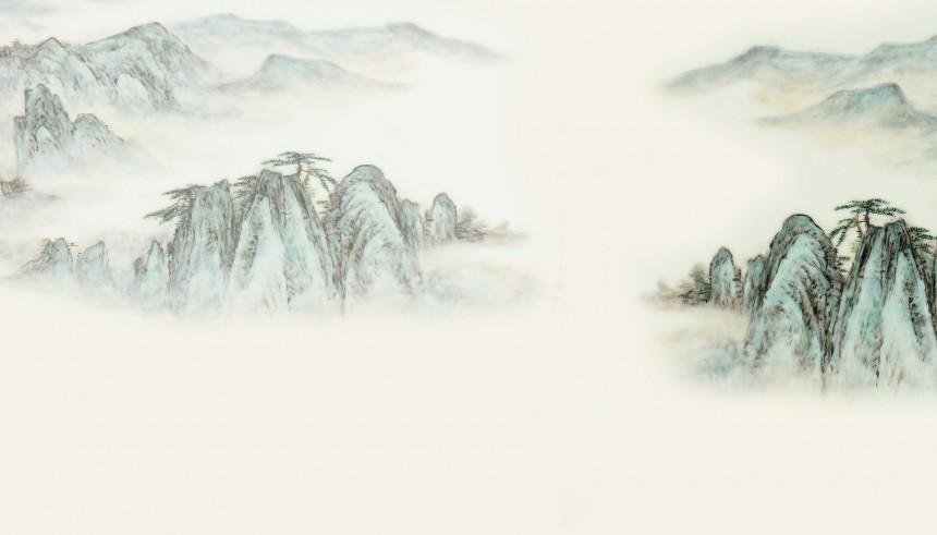 青山意境背景图