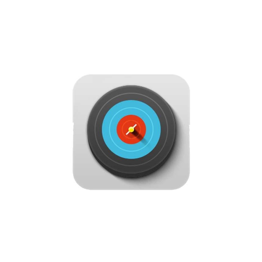 立体彩色靶子图标