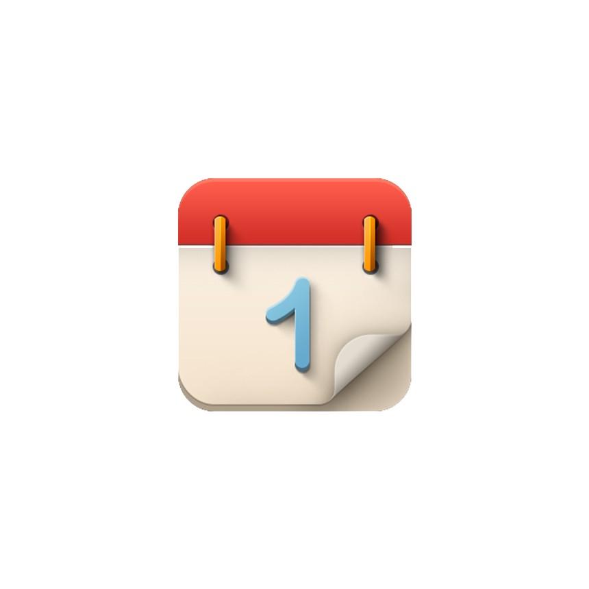 红色日历图标