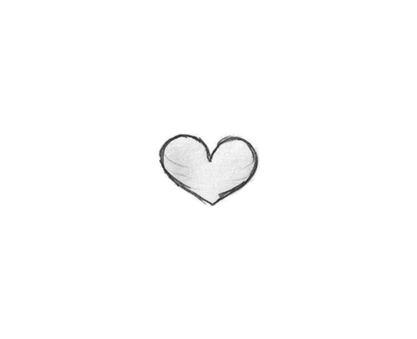 简约黑白爱心图标