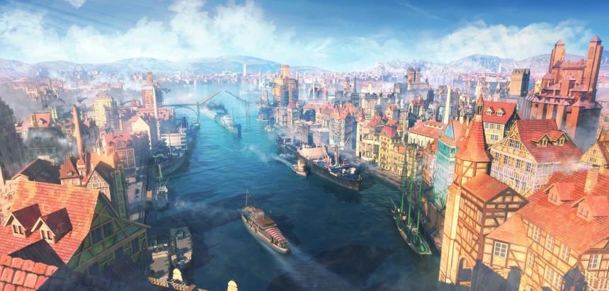 宏伟水城港口背景