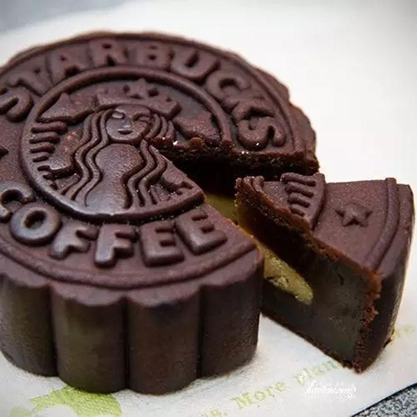 星巴克巧克力月饼图片