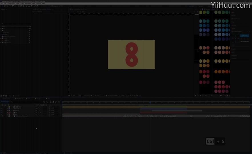 课时76:文字动画制作过程-4(无声回放)