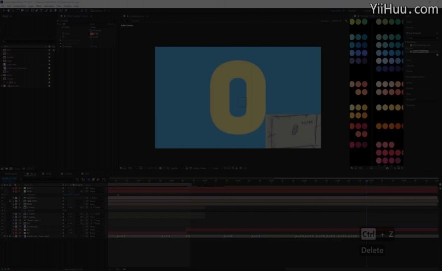课时75:文字动画制作过程-3(无声回放)