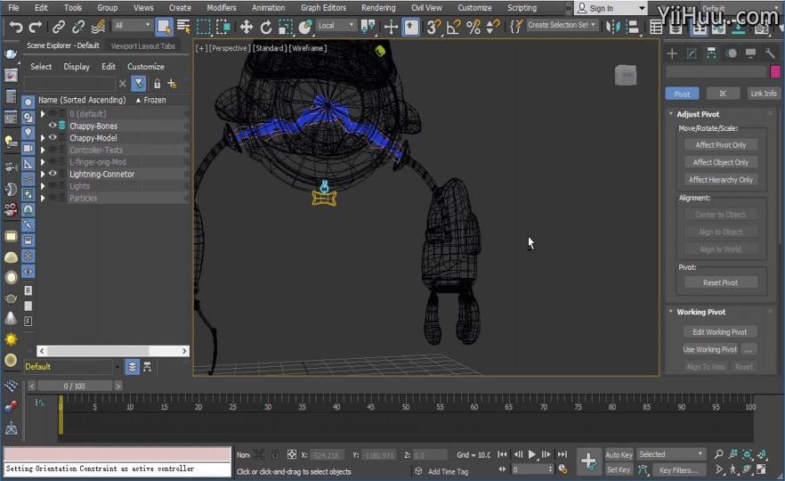 课时3:根据左手臂的动画特点架设骨骼