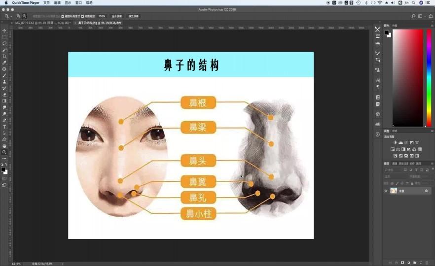第18节:鼻子的修饰技法 步骤-1